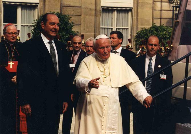 Président Chirac et le Pape