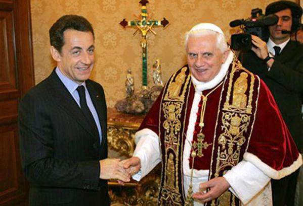 Président Sarkozy et le Pape