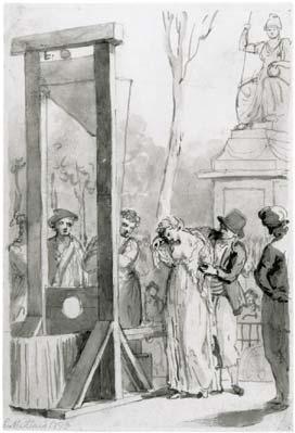 Olympe de Gouges guillotinée