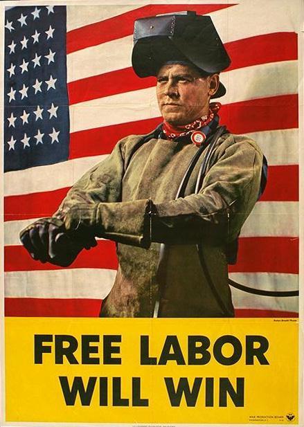 L'ouvrier blanc est libre ! Pas le noir déporté esclavagisé, pas le musulman colonisé...