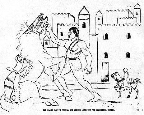 L'homme Noir en Afrique avait des guerriers forts et de belles villes.